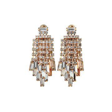 Waterfall Crystal Earrings, Clear