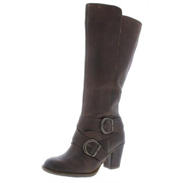 Born Womens Cresent Riding Boots Leather Knee-High