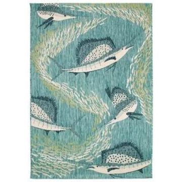 Liora Manne Portofino Sailfish Indoor/Outdoor Rug (7'10