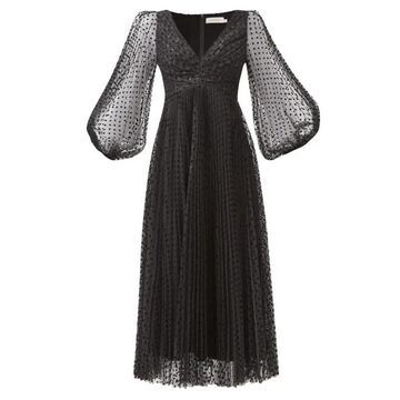 Zimmermann - Lucky Polka-dot Midi Dress - Womens - Black