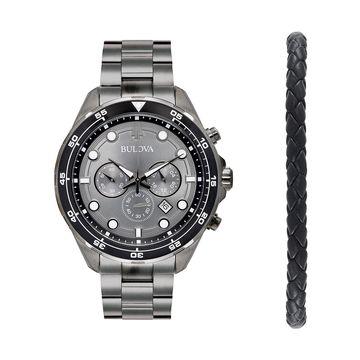 Bulova Men's Chronograph Watch & Bracelet Set