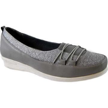 Beacon Shoes Women's Polly Sneaker Grey Stretch Fabric