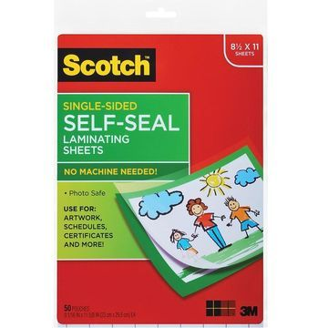 Scotch Self-Sealing Laminating Sheets, 50/Pack (LS854SS-50)   Quill