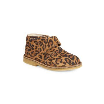 Girl's Naturino Choco Leopard Loafers