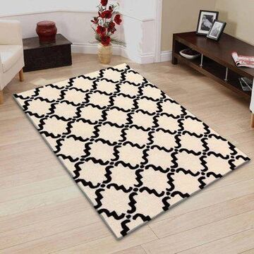 Superior Moroccan Lattice Hand Hooked & Hand Tufted Wool Area Rug