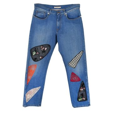 Christopher Kane Blue Cotton Jeans
