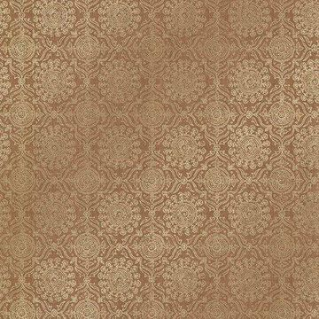 Kenneth James Sultana Copper Lattice Texture Wallpaper