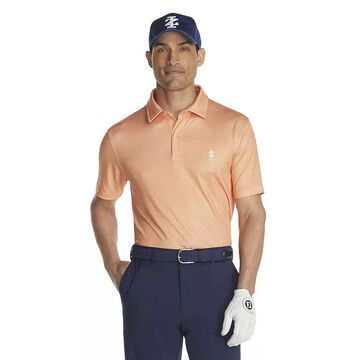 Men's IZOD Classic-Fit Patterned Golf Polo, Size: Small, Orange
