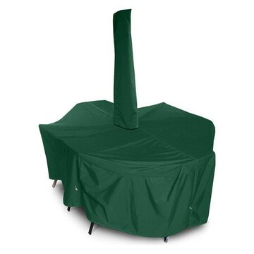X-Large Dining Set Cover With Umbrella Hole, Forest Green