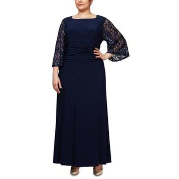 Sl Fashions Plus Size Bell-Sleeve Gown