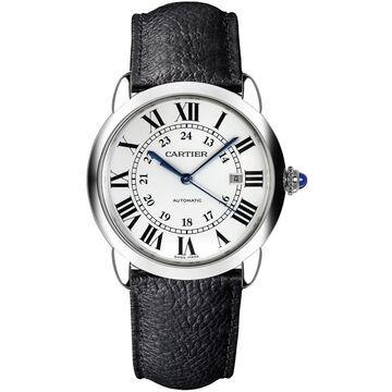Cartier Men's WSRN0022 'Ronde Solo' Black Leather Watch
