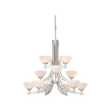Vaxcel Lighting SE-CHU012BN Sebring Transitional 12-Light Chandelier