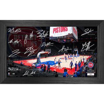 Detroit Pistons Highland Mint 12'' x 20'' Signature Court Photo