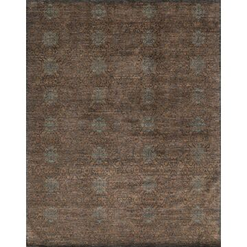 ESSXEQ-02TOCC7999 7 ft. 9 in. x 9 ft. 9 in. Transitional Essex Collection Hand Knotted Wool Rug - Tobacco & Charcoal