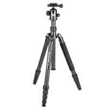 Manfrotto Element Traveller 5-Section Big Carbon Fiber Tripod with Ball Head, 18 lbs Capacity, 65& Maximum Height