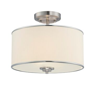 Savoy House Grove Drum Ceiling Light in Satin Nickel