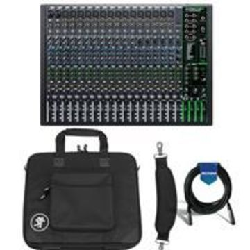 Mackie ProFXv3 22-Channel Professional Effects Mixer with USB + Software Bundle - Bundle With Mackie Carry Bag for ProFX22v3 Mixer, 20' Heavy Duty 7mm Rubber XLR Microphone Cable