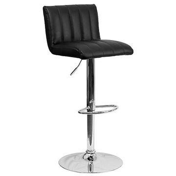 Flash Furniture Adjustable Height Bar Stool In Black