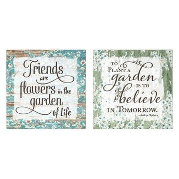 IMAX Home A0260277 Inspirational Garden Two Piece 10 Inch x 10 Inch Ar