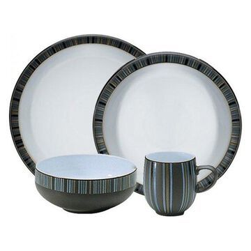 Denby Jet Stripes 4-Piece Dinnerware Set, Set of 12