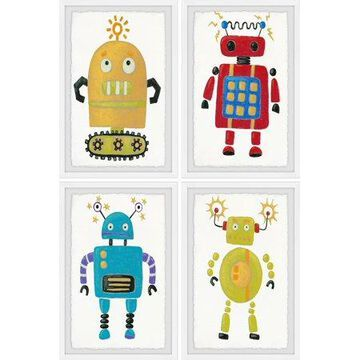 Marmont Hill The Amazing Robots Quadriptych