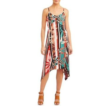 ECI Women's Tropical Stripe Sleeveless Dress