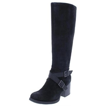 B.O.C. Womens Dakota Riding Boots Suede Stacked Heel