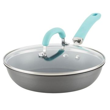 Rachael Ray Create Delicious Hard-Anodized Aluminum Nonstick Covered Deep Skillet