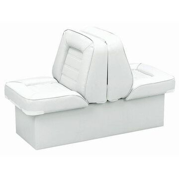 Wise 8WD505P-1-710 Bucket Style Back to Back Lounge Seat, White
