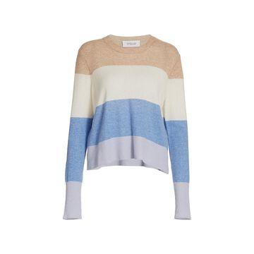 Derek Lam 10 Crosby Clea Crewneck Cashmere Striped Sweater