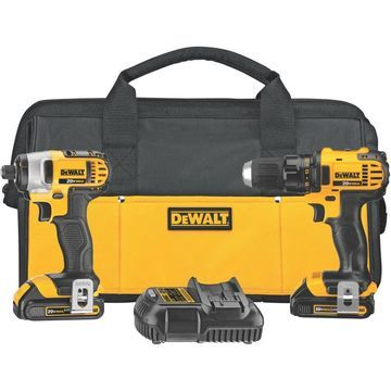 DeWalt 20V Lithium-Ion Cordless Drill/Driver and Impact Driver Kit
