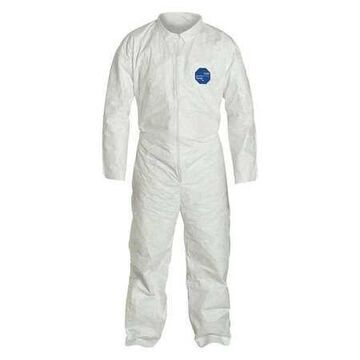 DUPONT TY120SWH4X0006G1 Collared Disposable Coveralls , 4Xl , White , Tyvek(R)