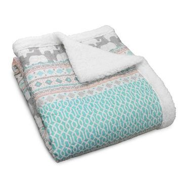 Lush Decor Elephant Stripe Throw
