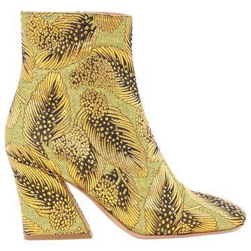 Dries Van Noten Gold Cloth Boots