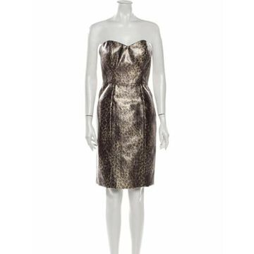 Strapless Mini Dress w/ Tags Gold