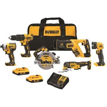 DEWALT 6-Tool 20-Volt Max Brushless Power Tool Combo Kit with Soft Case (2-Batteries and charger Included) | DCK677D2