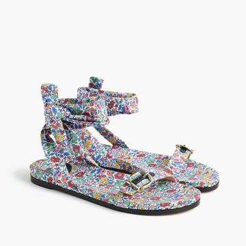 Bedford sandals with ankle ties in Liberty& favorite flowers