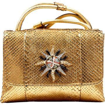 Roberto Cavalli Gold Python Handbags