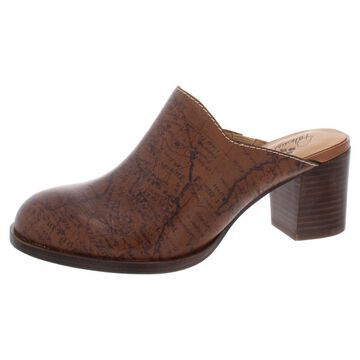Patricia Nash Womens Nicia Leather Printed Mules