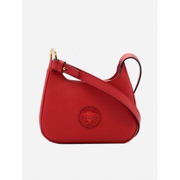 Versace La Medusa Small Leather Hobo Bag