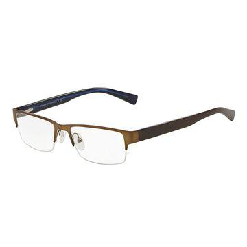 Armani Exchange AX1015 6069 52 Satin Brown/brown Blue Trans Men's Rectangle Eyeglasses