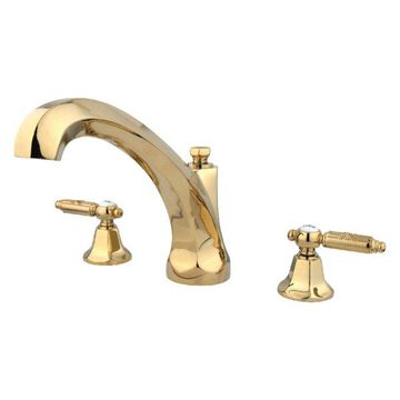Kingston Brass KS4322GL Roman Tub Filler, Polished Brass