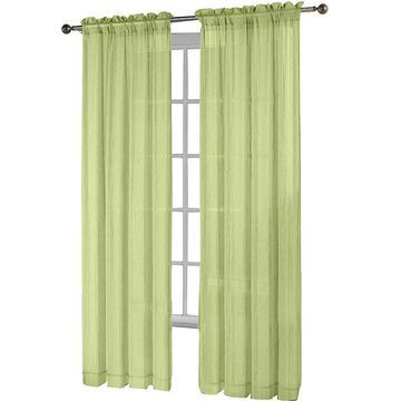Fiesta Rod-Pocket Sheer Curtain Panel