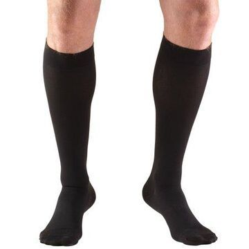 Truform Stockings, Knee High, Closed Toe: 20-30 mmHg, Black, Large