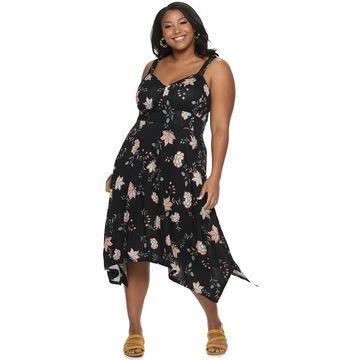 Juniors' Plus Size American Rag Handkerchief Dress
