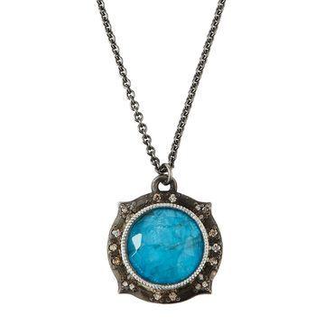 New World Apatite/Quartz Doublet Pendant Necklace