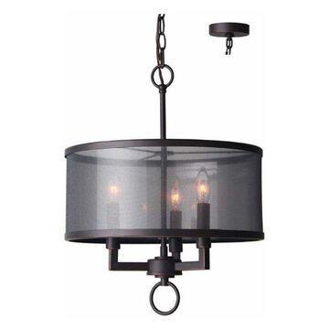 Woodbridge Lighting 15513 Jamison 3 Light Chandelier