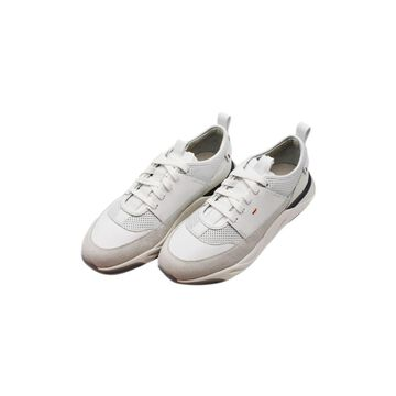 Santoni Innova Sneacker By Santoni With Laces In Very Soft Leather And Suede