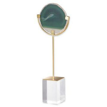 A&B Home Small Floating Agate Figurine In Green