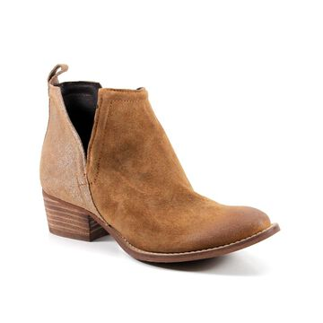 Diba True Women's Casual boots WHISKEY/COGNAC - Whiskey & Cognac Side-Notch Stop By Leather Ankle Boot - Women